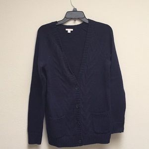 NWOT navy blue M cable knit cardigan (old navy)